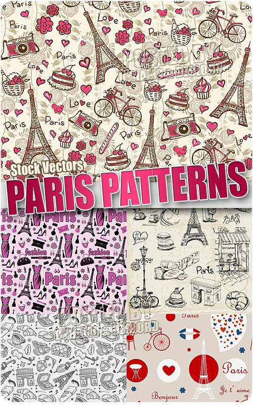 Paris patterns 2 - Stock Vectors