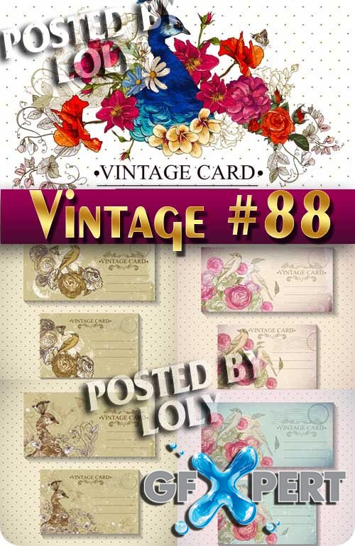 Vintage backgrounds #88 - Stock Vector