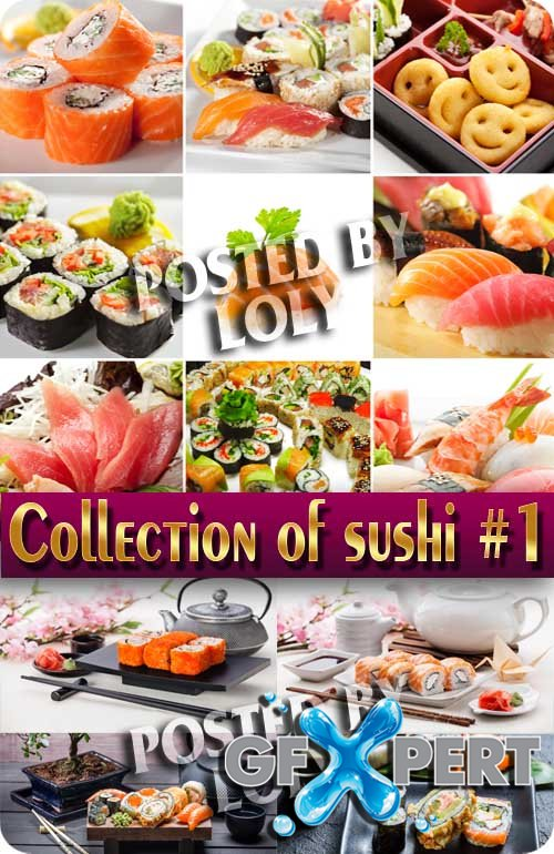 Food. Mega Collection. Sushi #1 - Stock Photo