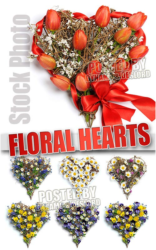 Floral heart - UHQ Stock Photo