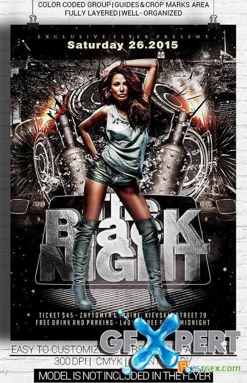 Flyer Template - The Black Night