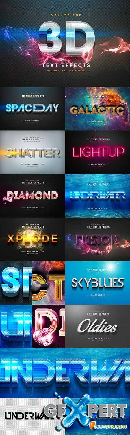 Creativemarket 3D Text Effects Vol.1 160828