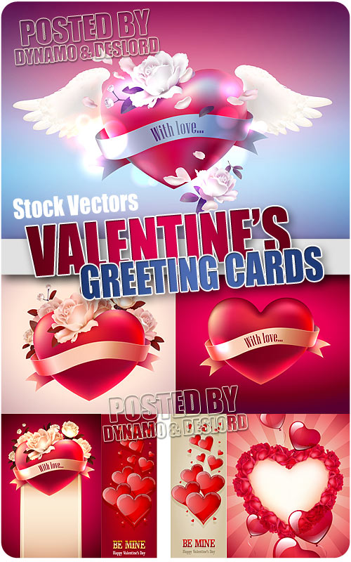 Valentine's Day Greeting card - Stock Vectors