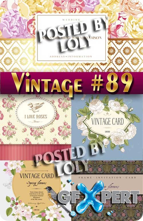 Vintage backgrounds #89 - Stock Vector