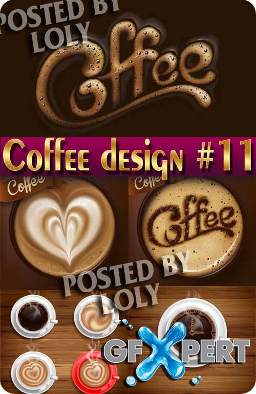 Coffee Designs #11 - Stock Vector