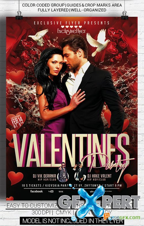 Flyer Template - Valentines Party