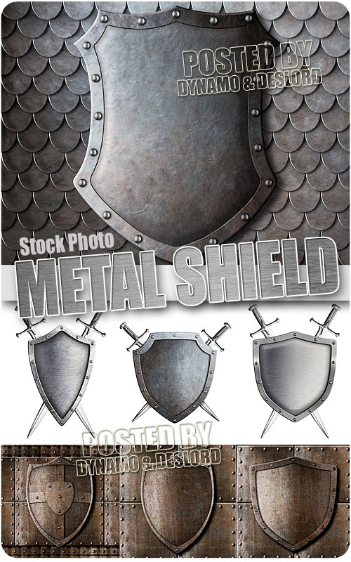 Metal shield - UHQ Stock Photo