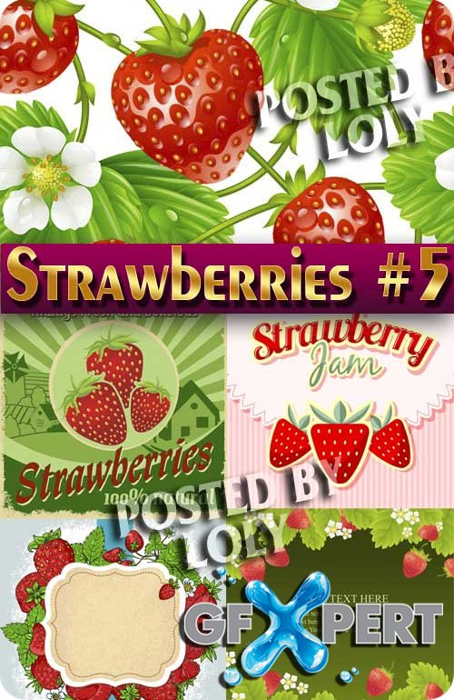 Strawberry vector #5 - Stock Vector