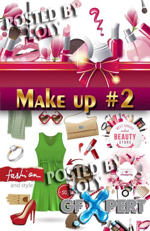Makeup and Cosmetics #2 - Stock Vector