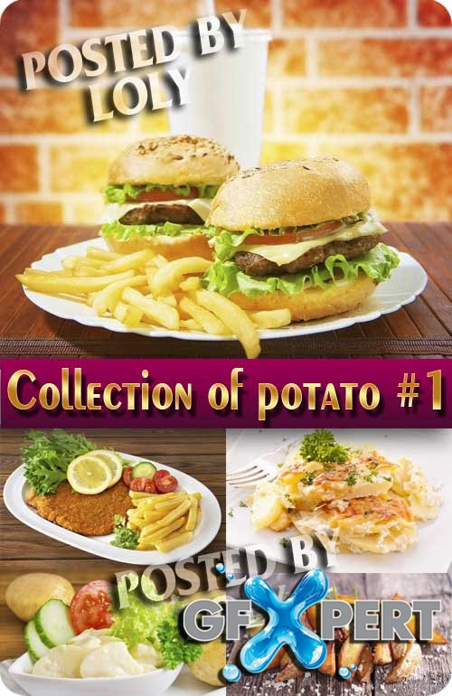 Food. Mega Collection. Potatoes #1 - Stock Photo