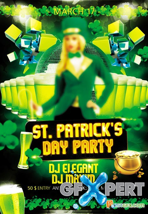 Flyer PSD Template - St Patricks Day