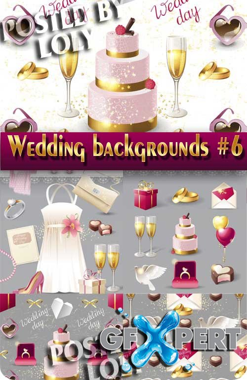 Wedding Backgrounds #6 - Stock Vector