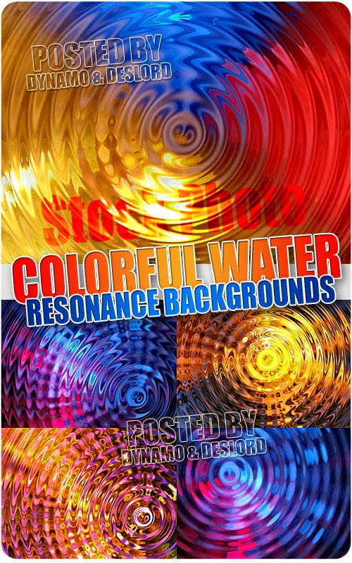 Colorful Water Resonance Background - UHQ Stock Photo