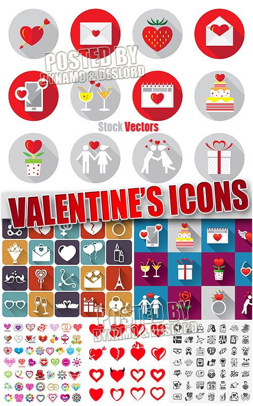 Valentine's icons - Stock Vectors