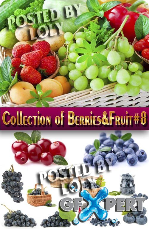 Food. Mega Collection. Berries and Fruits #8 - Stock Photo