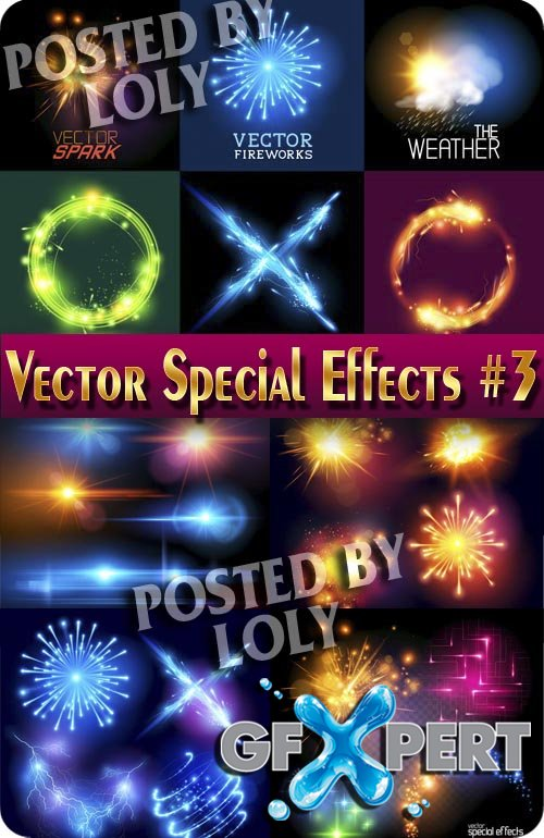 Effects vector #3 - Stock Vector