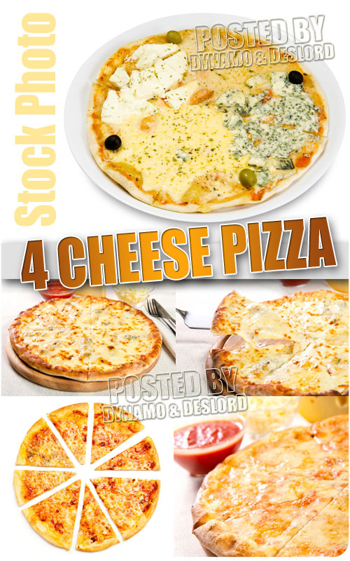 Four cheese pizza - UHQ Stock Photo
