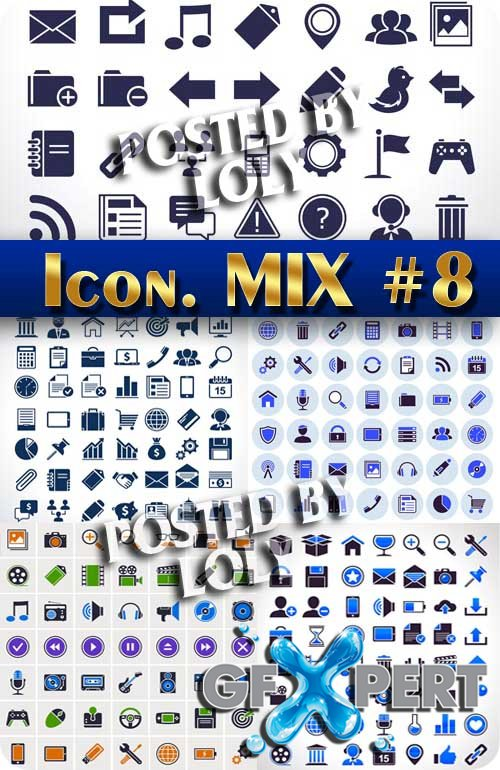 Icon. Mix #8- Stock Vector