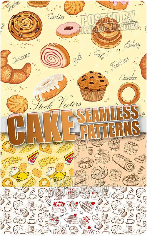 Cake pattern - Stock Vectors