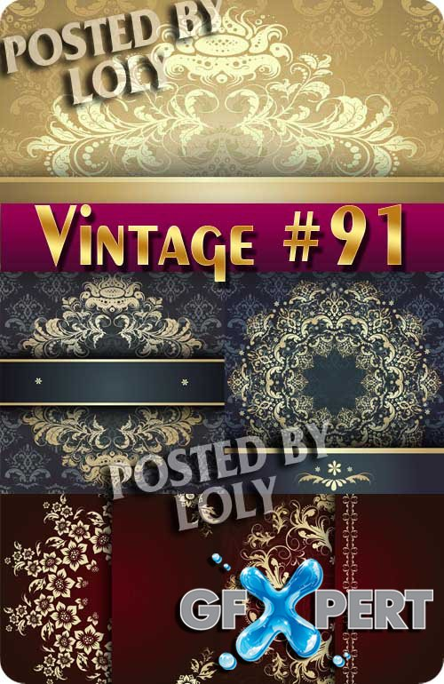 Vintage backgrounds #91 - Stock Vector