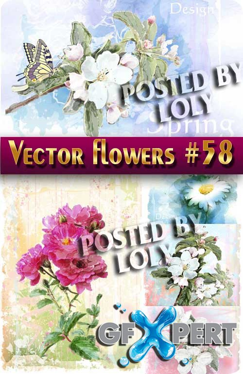 Vector Flowers #58 - Stock Vector