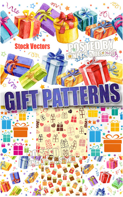 Gift pattern - Stock Vectors