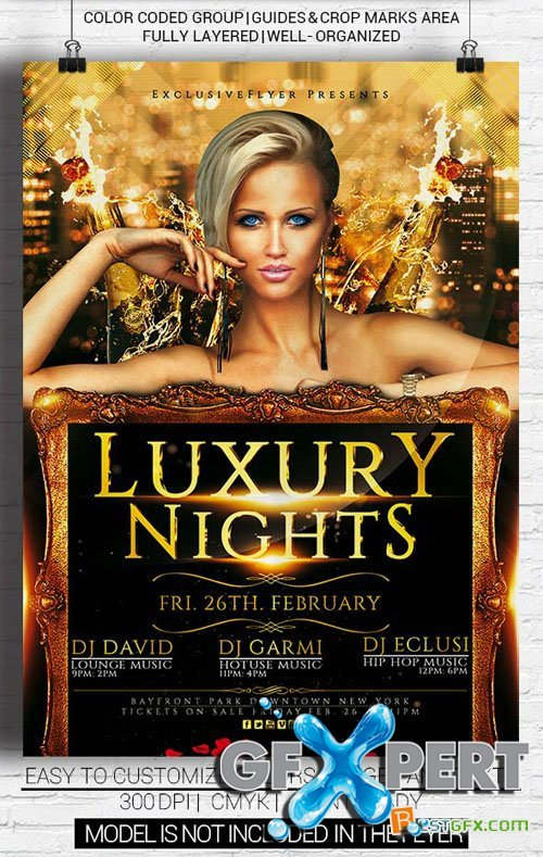 Flyer Template PSD - Luxury Nights Party