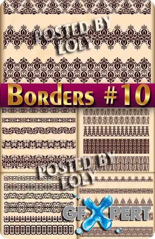 Vintage elements and borders #10  - Stock Vector