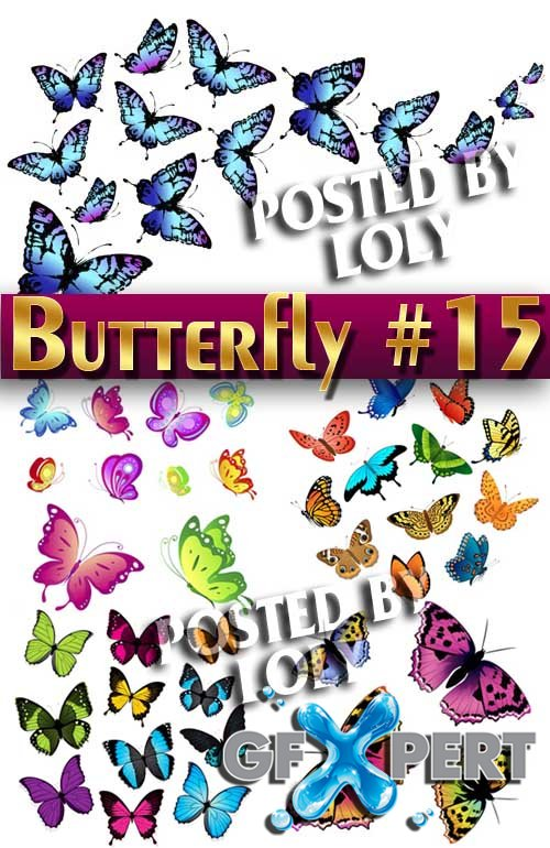 Beautiful butterfly #15 - Stock Vector
