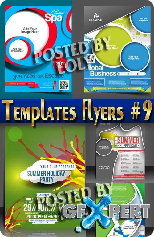 Flyer templates #9 - Stock Vector