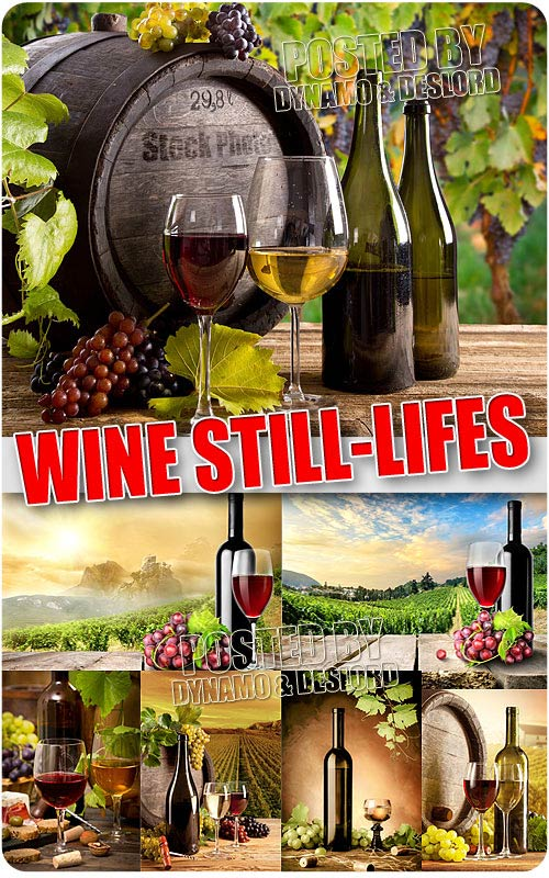 Wine still-lifes - UHQ Stock Photo