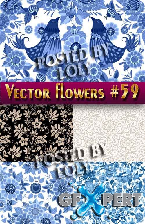 Vector Flowers #59 - Stock Vector