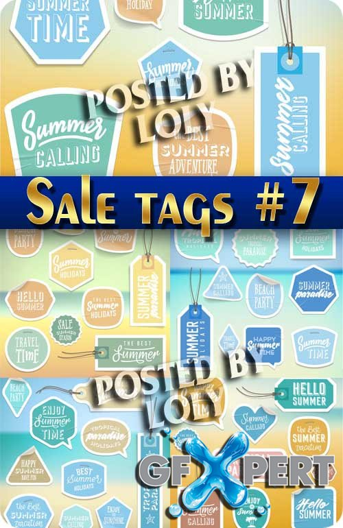 Sale tag #7 - Stock Vector