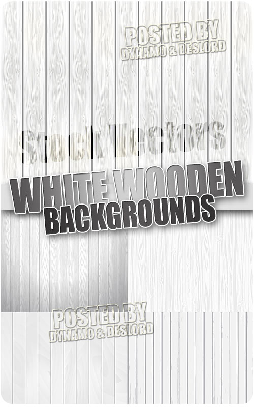 White wooden background - Stock Vectors