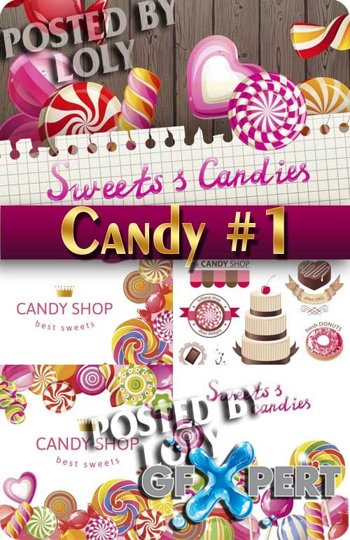 Sweets and candies #2 - Stock Vector