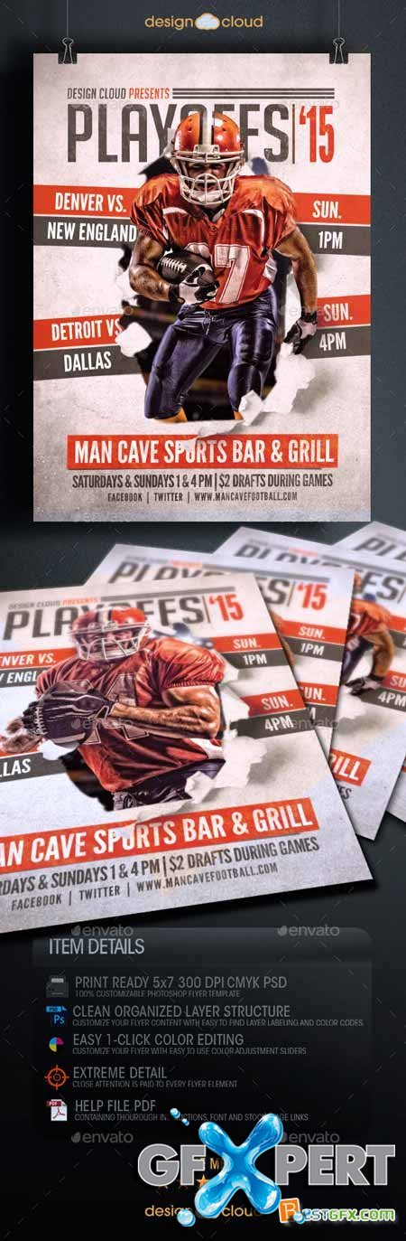 Playoffs 15 Flyer Template