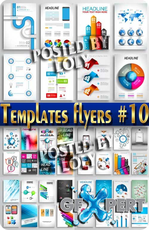 Flyer templates #10 - Stock Vector