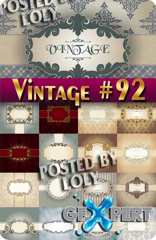 Vintage backgrounds #92 - Stock Vector