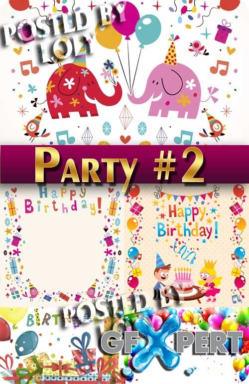 Fun party #2 - Stock Vector