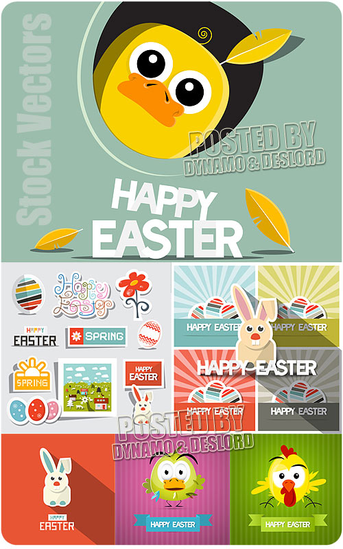 Funny Easter - Stock Vectors