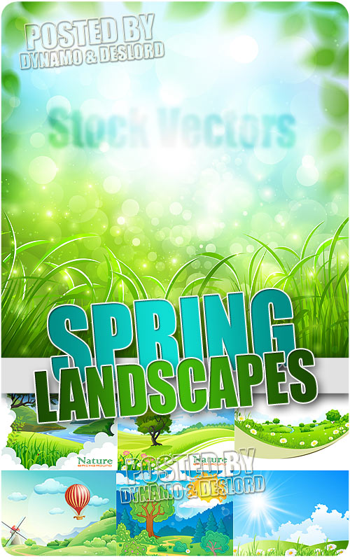 Spring Landscapes 2 - Stock Vectors