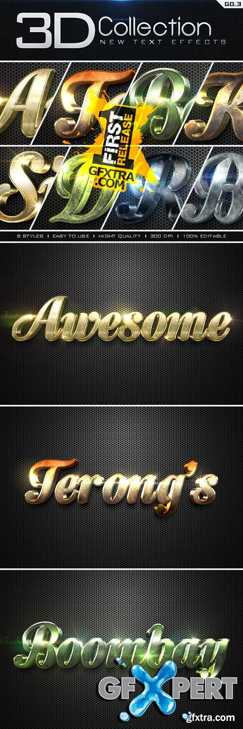 Graphicriver New 3D Collection Text Effects GO.3 9656922
