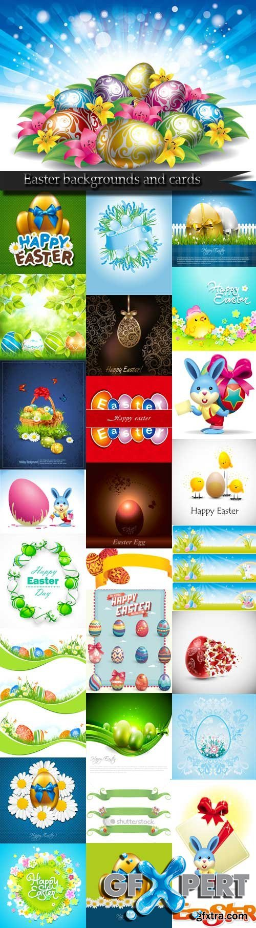 Easter backgrounds and cards vector