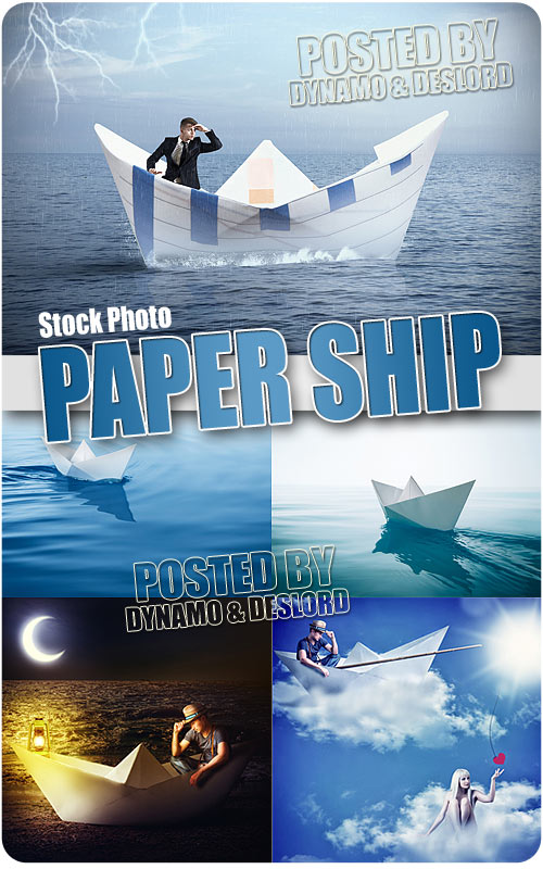 Paper ship - UHQ Stock Photo