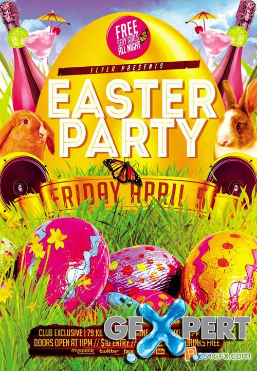 Free Flyer Template   Easter Party Download