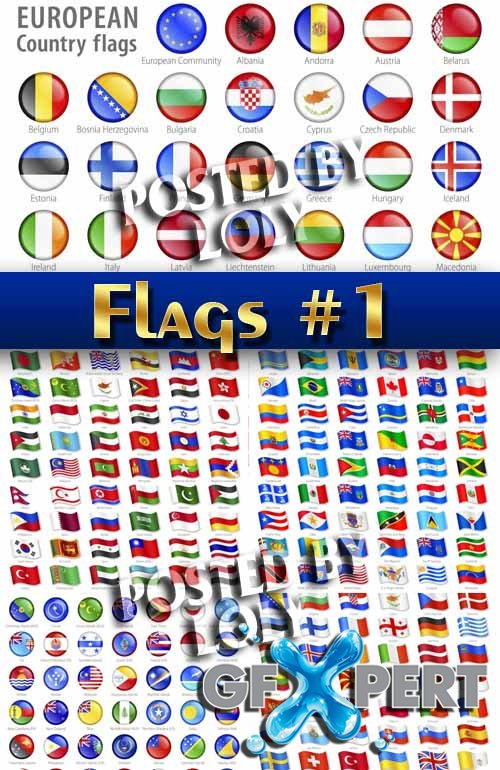Flags of the world #1 - Stock Vector