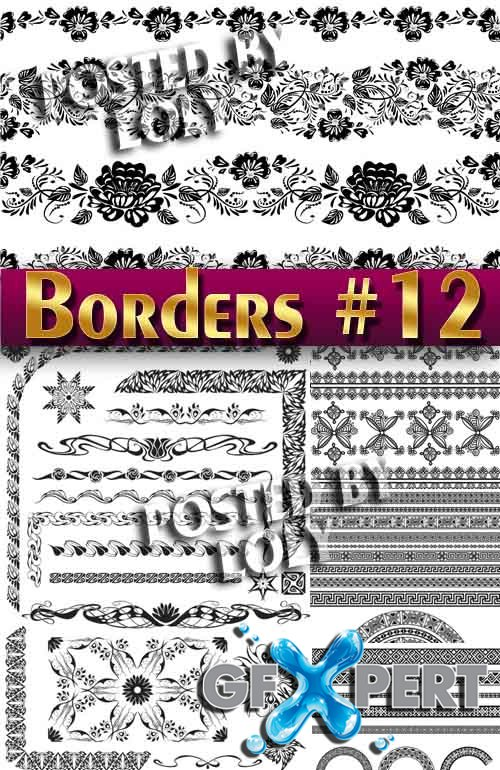 Vintage elements and borders #12  - Stock Vector