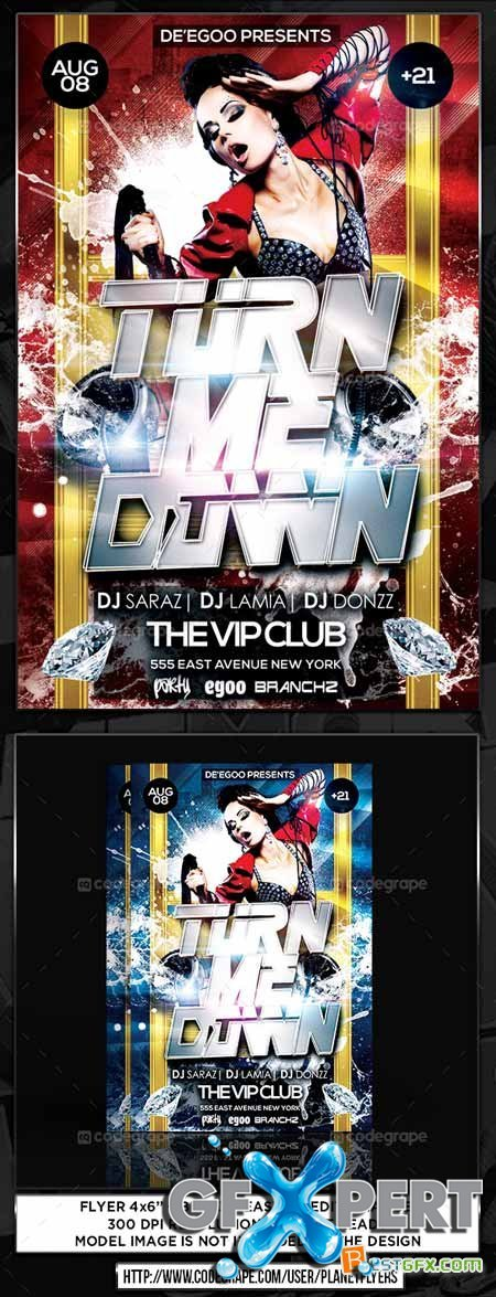 CodeGrape Turn Me Down Party Flyer 5429