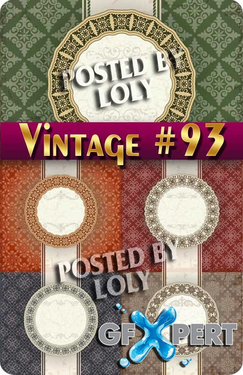 Vintage backgrounds #93 - Stock Vector