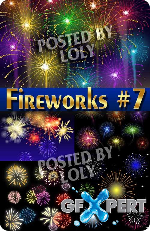 Fireworks #7 - Stock Vector
